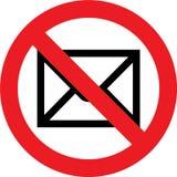 不要邮寄符号 免版税库存照片