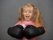 不要醒来在甜小女孩的一个火山 免版税图库摄影