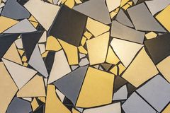 不规则的瓦片的样式在地板的 免版税库存照片