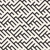 不规则的迷宫塑造铺磁砖当代图形设计 黑色模式无缝的向量白色 库存例证