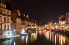 不适的河在史特拉斯堡-阿尔萨斯,法国 免版税图库摄影