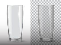 不透明两个空的杯子透明和 皇族释放例证