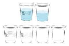 不透明和透明塑料和纸玻璃 库存例证