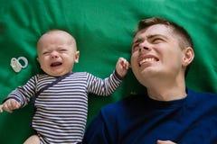 不遇见父亲和儿子 免版税库存照片