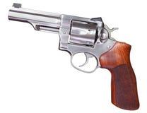 不锈的左轮手枪 免版税库存图片