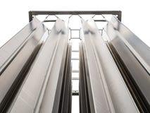 不锈缝合在室外氮气供气系统的蒸发器 免版税库存图片