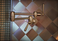 不锈钢厨房工作 图库摄影