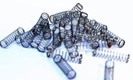 不锈钢圆珠笔的金属春天islolated 库存图片