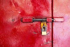 不锈钢安全挂锁安全 免版税库存图片