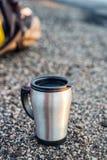 不锈钢杯子 免版税库存图片