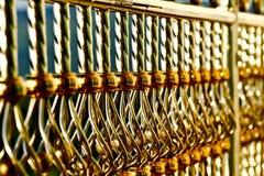 不锈钢篱芭 图库摄影