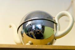 不锈钢茶罐从几天支持,当 库存照片