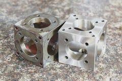 不锈钢转动的零件 库存照片