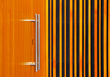 不锈钢门把手 免版税库存图片