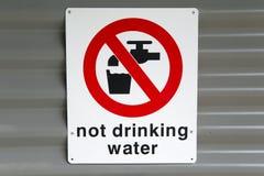 不饮用水 库存照片