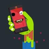 不死人的面孔在蛇神手上 selfie概念- 免版税库存照片