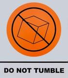不翻滚标志 这张照片从标志板,它被拍了` s n 库存照片
