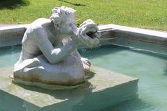 与'唾液和口角'复杂细节的美好的雕塑在大喷泉,国会公园,萨拉托加温泉,纽约,2018年 免版税库存照片