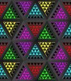 与一个不同的几何结构的文体的抽象轻的背景 3d例证 库存图片