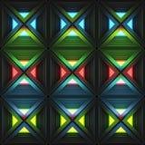 与一个不同的几何结构的文体的抽象轻的背景 3d例证 免版税库存照片