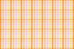 与一个五颜六色的被检查的样式的织品 免版税库存图片