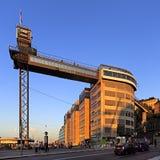 与一个全景大阳台的斯德哥尔摩,瑞典-凯瑟琳推力在S 库存图片