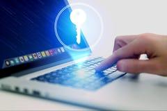 与一个关键象的物产概念在互联网应用- te 免版税库存照片