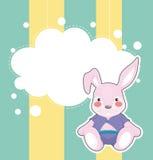 与一个哀伤的兔宝宝的一套文具 库存图片