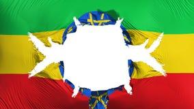 与一个大孔的埃塞俄比亚旗子 库存例证