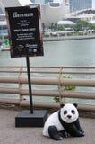 与一个委员会的一个陈列台从WWF世界自然基金会在新加坡 库存照片