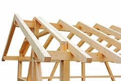 与一个小木房子屋顶的壳 库存图片