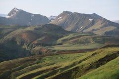 与一个山岭地区的自然本底 图库摄影
