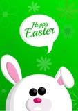 与一个白色兔宝宝的复活节背景 免版税库存图片
