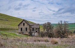 与一个石基础的被放弃的宅基 库存照片