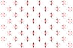 与一个红色样式的抽象无缝的几何样式 免版税库存照片