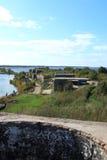 与一个老堡垒的风景 图库摄影