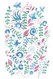 与一个花卉图案的逗人喜爱的卡片 免版税图库摄影