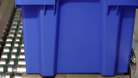 与一个蓝色框的传动机 影视素材