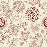 与一个进展的分支的无缝的花卉样式 免版税库存照片