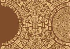 与一件古老玛雅装饰品的抽象设计 库存图片