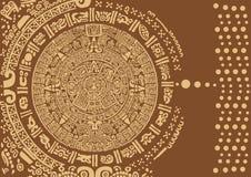 与一件古老玛雅装饰品的抽象设计 免版税图库摄影