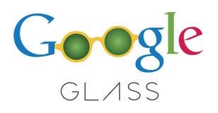 谷歌玻璃动画片 免版税图库摄影