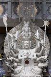 与一千条胳膊的Budha 免版税库存照片