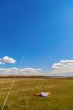 与一只风筝的图片在天空 库存照片