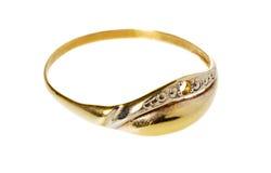 与一名装饰雕工的金戒指 库存照片