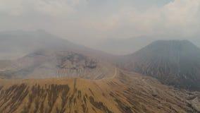 与一座活火山的山风景 影视素材