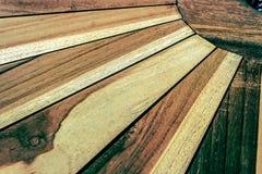 与一张木桌的细节的老照片 免版税库存图片