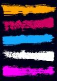 与一把宽刷子的色的干燥刷子冲程 免版税库存照片