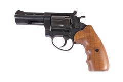 在白色背景的左轮手枪 免版税库存图片