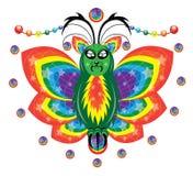 与一条彩虹的蝴蝶在翼 库存图片